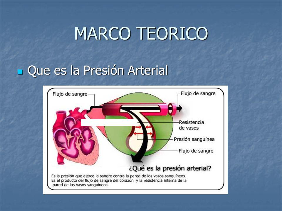 MARCO TEORICO Que es la Presión Arterial Que es la Presión Arterial