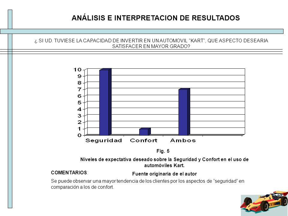 ANÁLISIS E INTERPRETACION DE RESULTADOS COMENTARIOS: Se puede observar una mayor tendencia de los clientes por los aspectos de seguridad en comparació