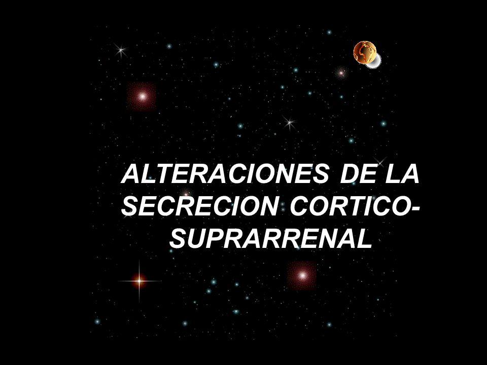 ALTERACIONES DE LA SECRECION CORTICO- SUPRARRENAL