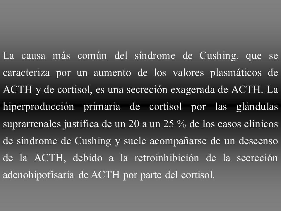 La administración de grandes dosis de dexametasona, un glucocorticoide sintético, permite diferenciar entre el síndrome de Cushing dependiente de la ACTH y el independiente de la ACTH.