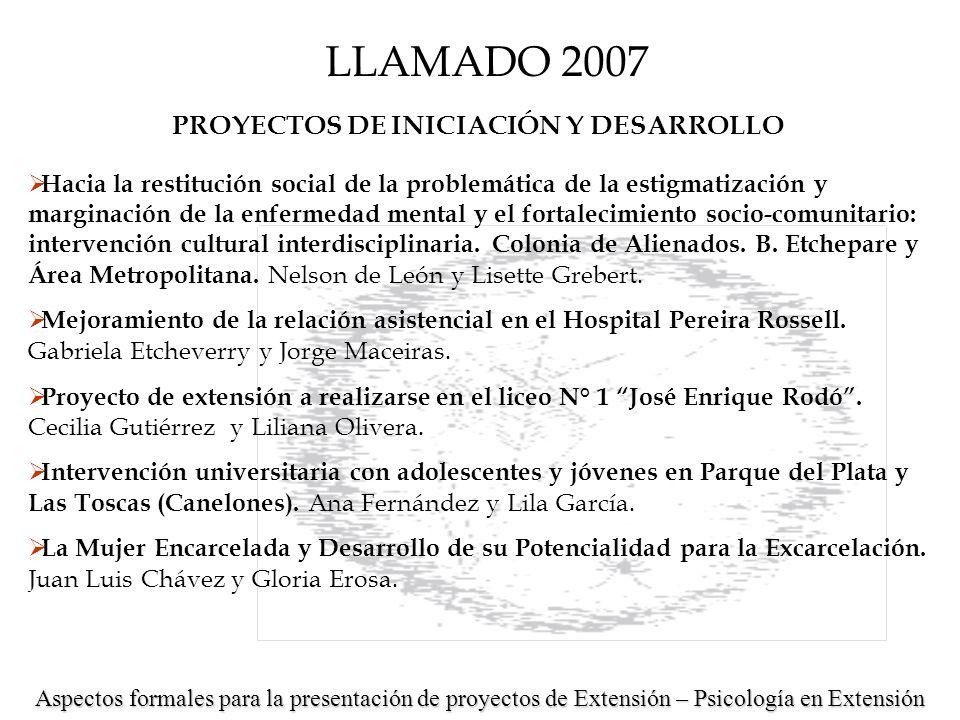 Universidad de la República Facultad de Psicología Unidad de Apoyo a la Extensión y Actividades en el Medio Tel.