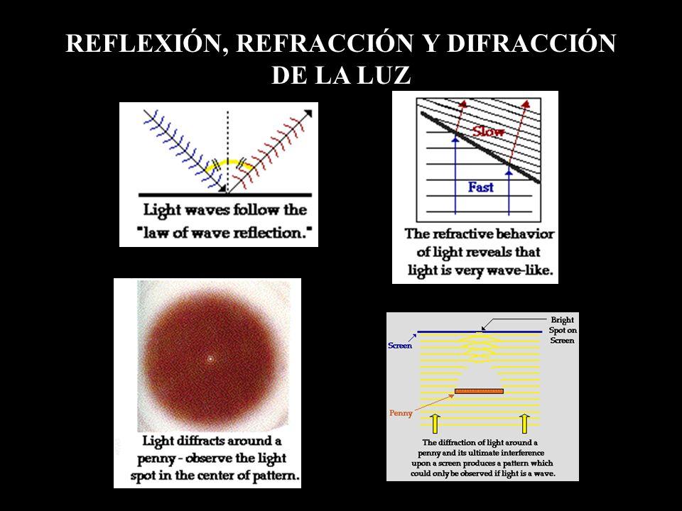 REFLEXIÓN, REFRACCIÓN Y DIFRACCIÓN DE LA LUZ