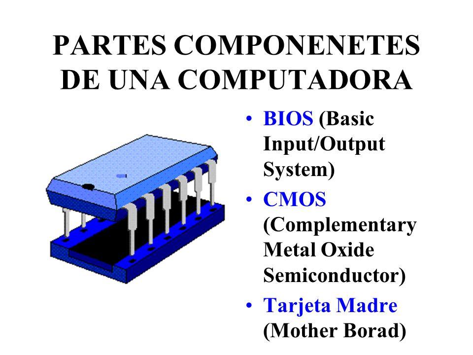 Partes componentes de Mother Board 1 Ranuras de expansión o slots PCI 2 Puertos para ratón o modem 3 Conector para teclado 4 Conectores p8 y p9 5 Ranuras de expansión slots ISA 6 Zócalo banco de memoria 7Conectores IDE para disco duro 8 banco de memoria para DIMMs 9 Zócalo microprocesador 10 Conector Flopy 11 BIOS 12 Chips 13 Pila alimenta BIOS
