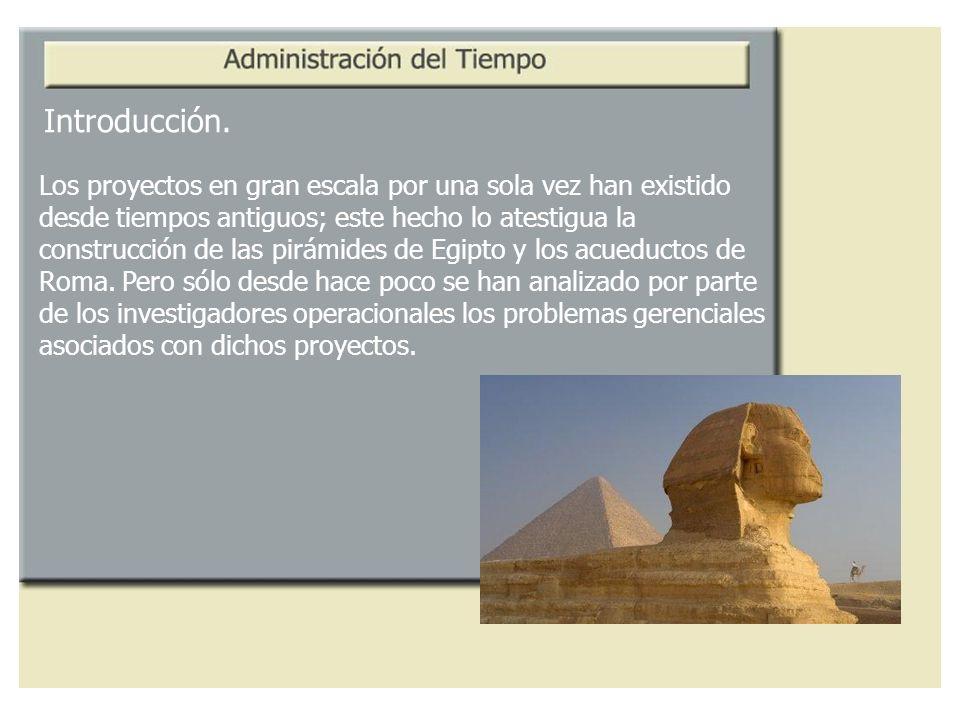 Introducción. Los proyectos en gran escala por una sola vez han existido desde tiempos antiguos; este hecho lo atestigua la construcción de las pirámi