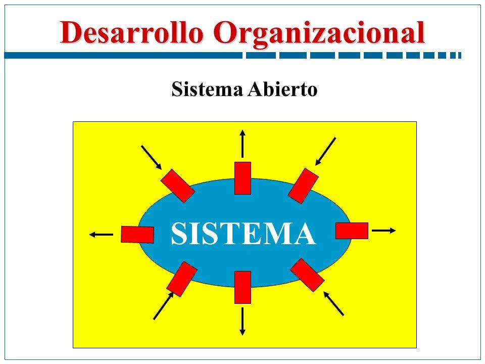 Desarrollo Organizacional SISTEMA Sistema Abierto