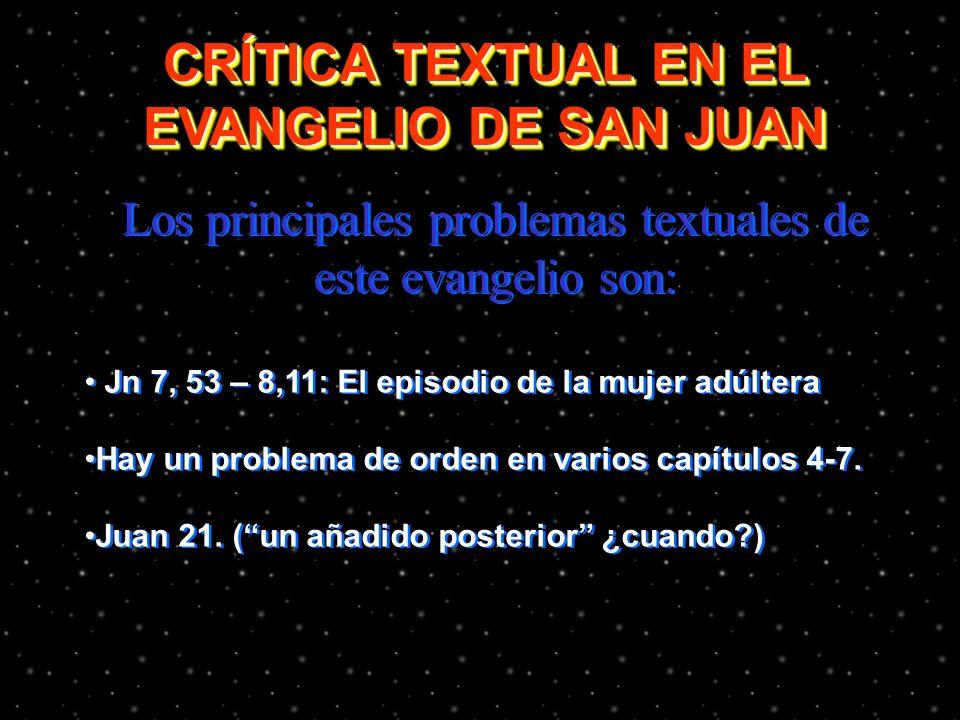26 Actividad: Buscar en tu Biblia las citas bíblicas para cada signo en el evangelio de Juan, determinar los que tienen sus paralelos con los sinóptic