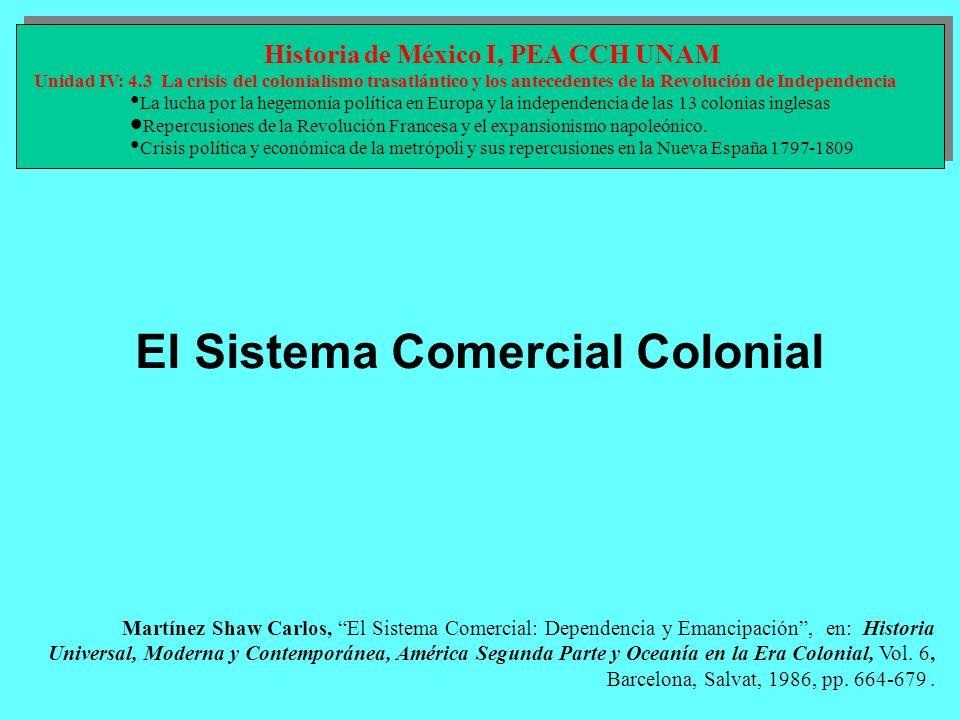 Martínez Shaw Carlos, El Sistema Comercial: Dependencia y Emancipación, en: Historia Universal, Moderna y Contemporánea, América Segunda Parte y Ocean