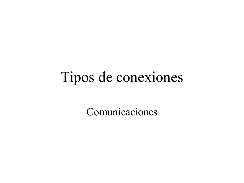 Tipos de conexiones Comunicaciones