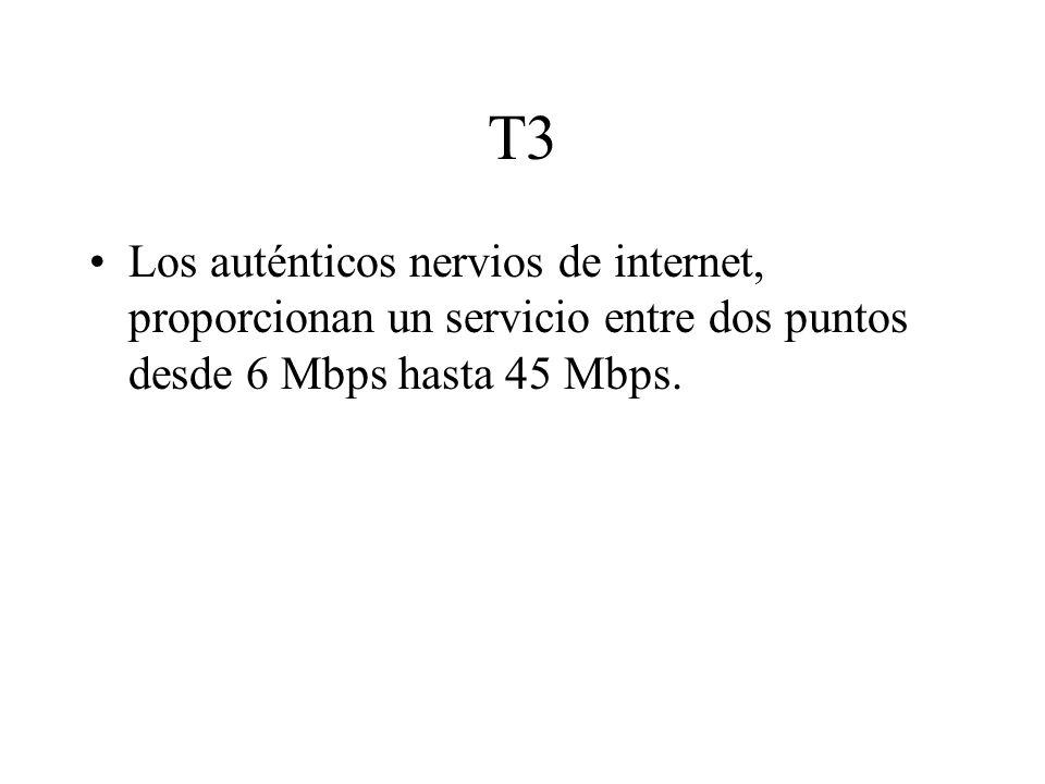 DSL Existen varias modalidades, todas son punto a punto y dedicadas, usa las líneas RTC del teléfono aprovechando el ancho de banda que la voz no utiliza, ADSL va desde 64 kbps a 2 Mbps, XDSL desde 3 Mbps a 8 Mbps, VDSL que se supone llega a 45 Mbps.