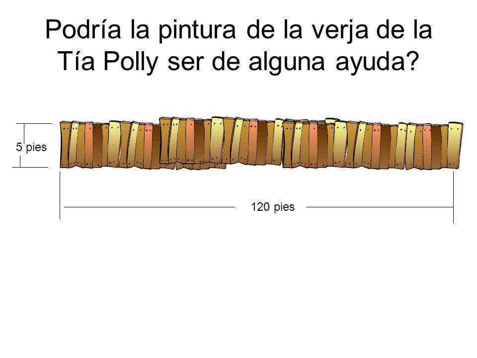 Podría la pintura de la verja de la Tía Polly ser de alguna ayuda? 120 pies 5 pies