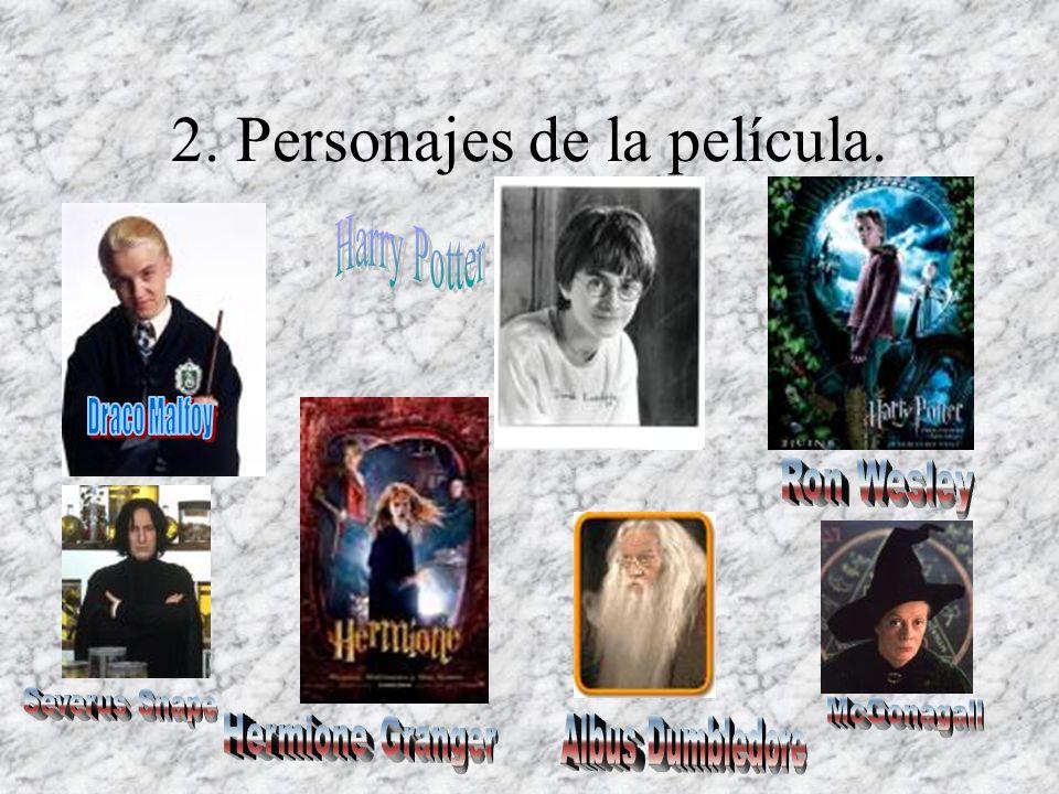 2. Personajes de la película.
