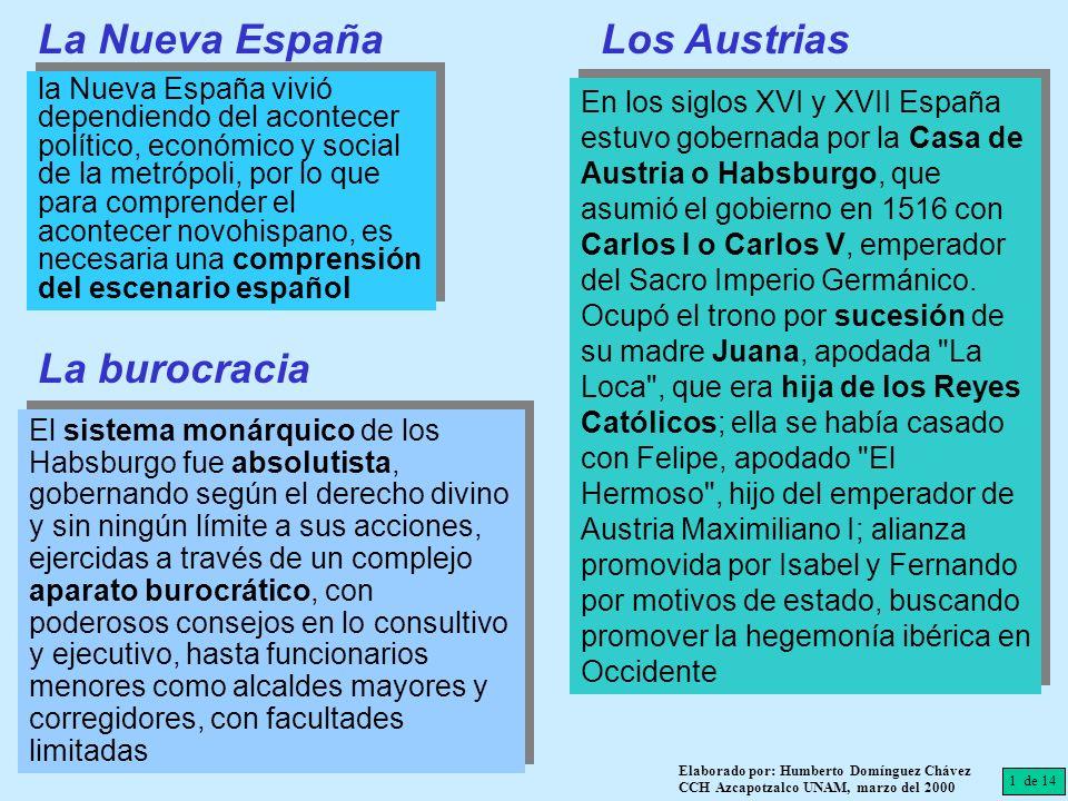 La Nueva España la Nueva España vivió dependiendo del acontecer político, económico y social de la metrópoli, por lo que para comprender el acontecer