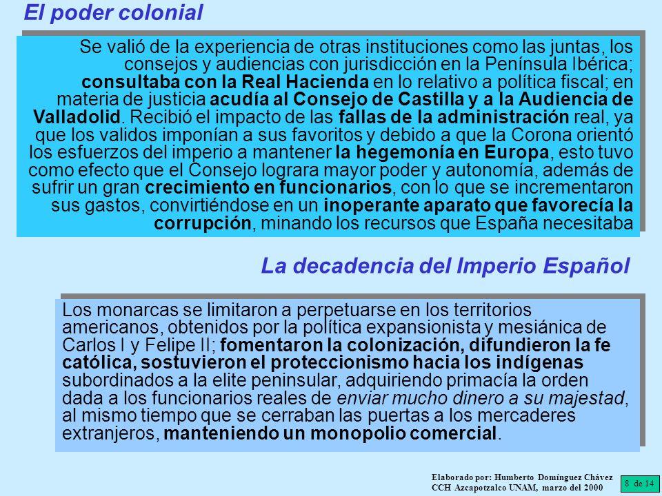 8 de 14 Elaborado por: Humberto Domínguez Chávez CCH Azcapotzalco UNAM, marzo del 2000 Se valió de la experiencia de otras instituciones como las junt