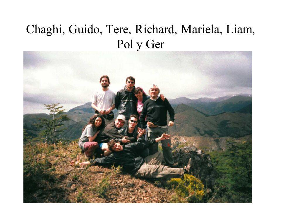 Chaghi, Guido, Tere, Richard, Mariela, Liam, Pol y Ger