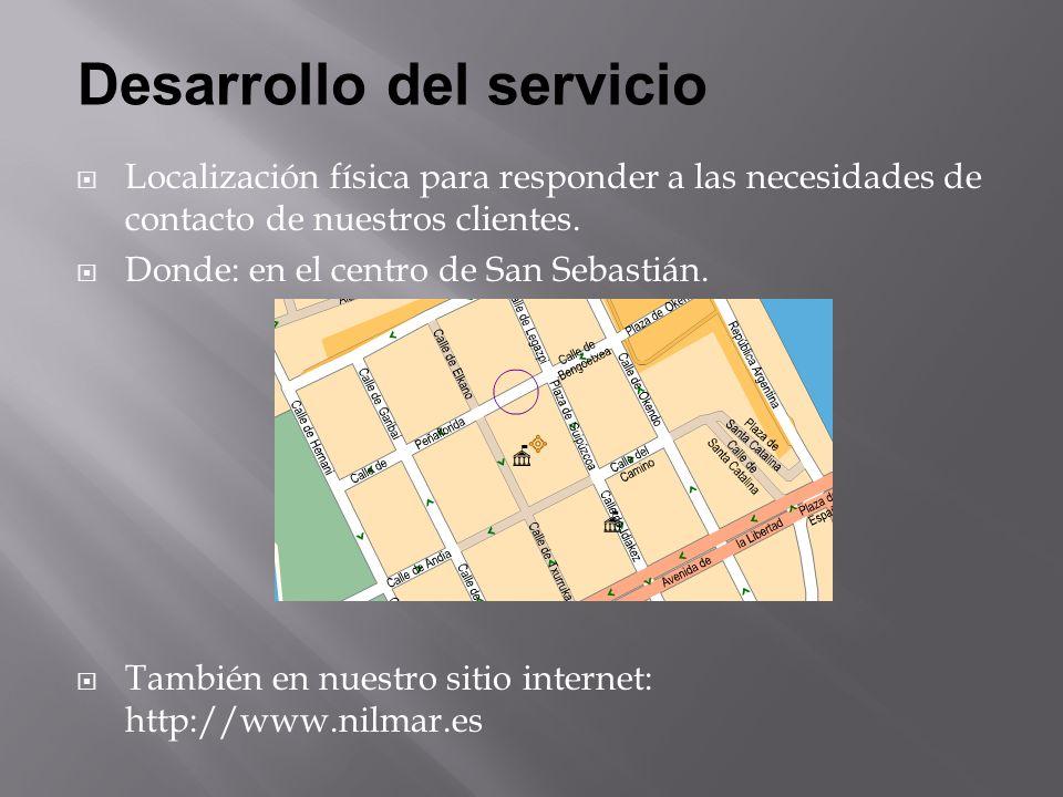Localización física para responder a las necesidades de contacto de nuestros clientes.