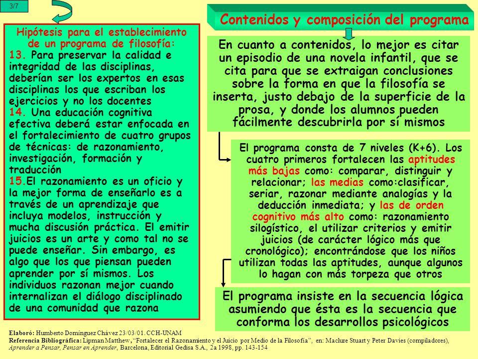 4/7 Lógica formal e informal Elaboró: Humberto Domínguez Chávez 23/03/01.
