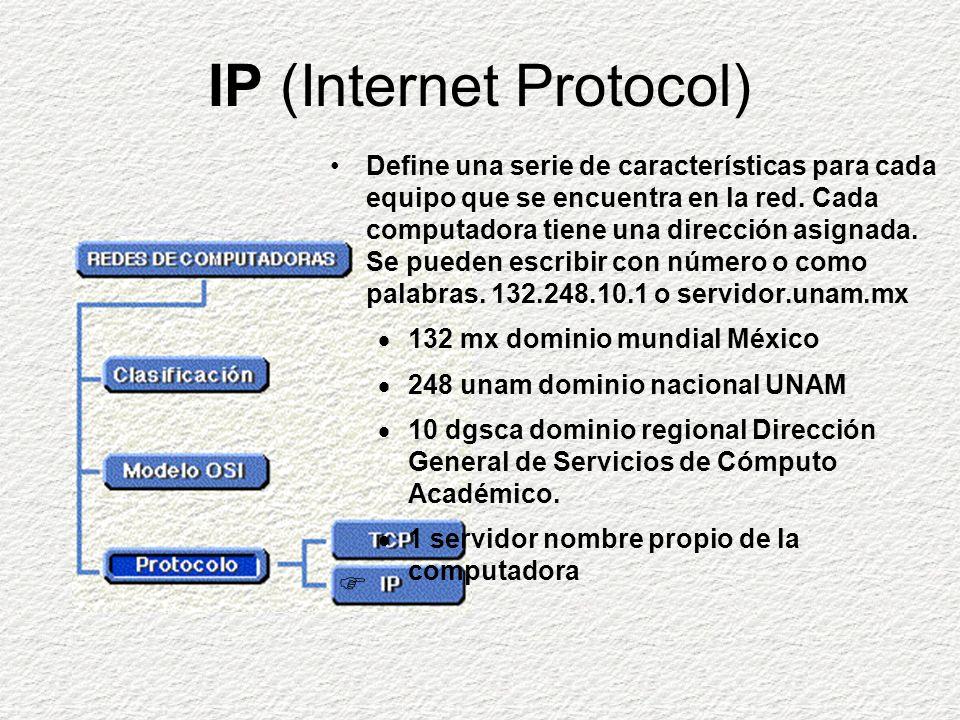 TCP (Transmission Control Protocol) Se encarga del transporte de los datos a través de la red.