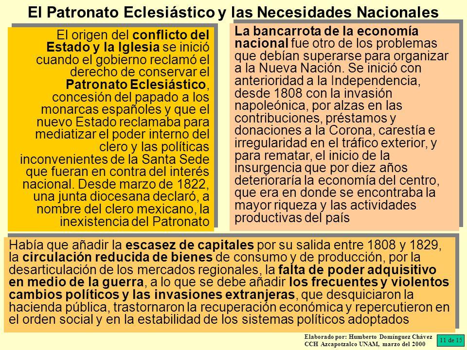 Elaborado por: Humberto Domínguez Chávez CCH Azcapotzalco UNAM, marzo del 2000 El origen del conflicto del Estado y la Iglesia se inició cuando el gob