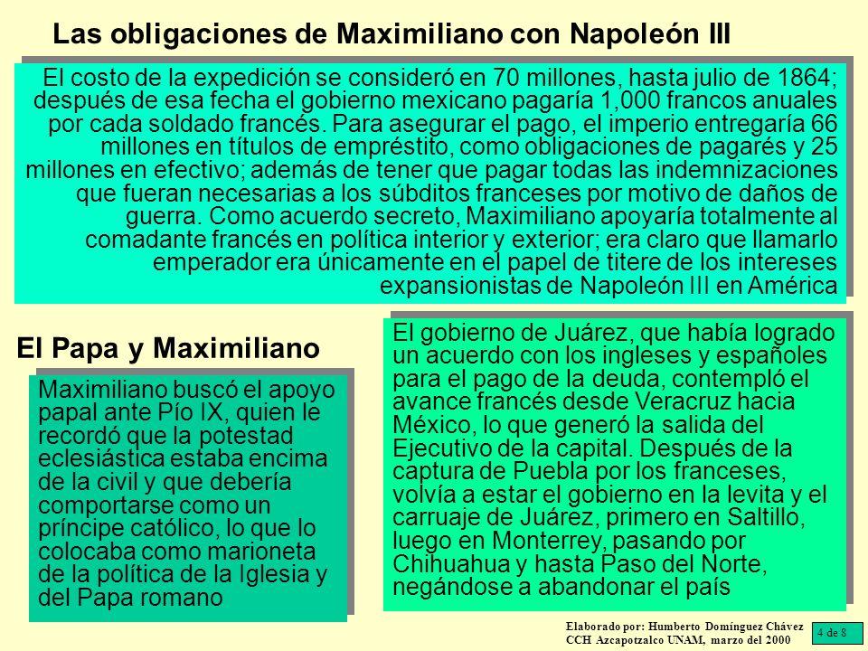 Maximiliano ingenuamente escribió a Juárez durante su viaje, invitándolo a colaborar con su gobierno.