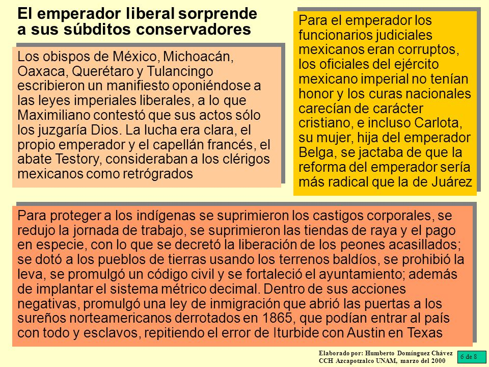 Los obispos de México, Michoacán, Oaxaca, Querétaro y Tulancingo escribieron un manifiesto oponiéndose a las leyes imperiales liberales, a lo que Maxi