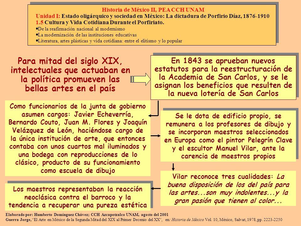 En 1843 se aprueban nuevos estatutos para la reestructuración de la Academia de San Carlos, y se le asignan los beneficios que resulten de la nueva lo
