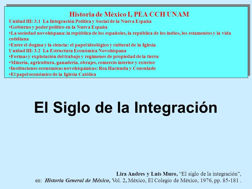 Lira Andres y Luis Muro, El siglo de la integración, en: Historia General de México, Vol. 2, México, El Colegio de México, 1976, pp. 85-181. Historia