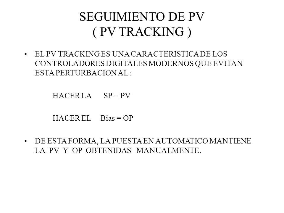 SEGUIMIENTO DE PV ( PV TRACKING ) EL PV TRACKING ES UNA CARACTERISTICA DE LOS CONTROLADORES DIGITALES MODERNOS QUE EVITAN ESTA PERTURBACION AL : HACER