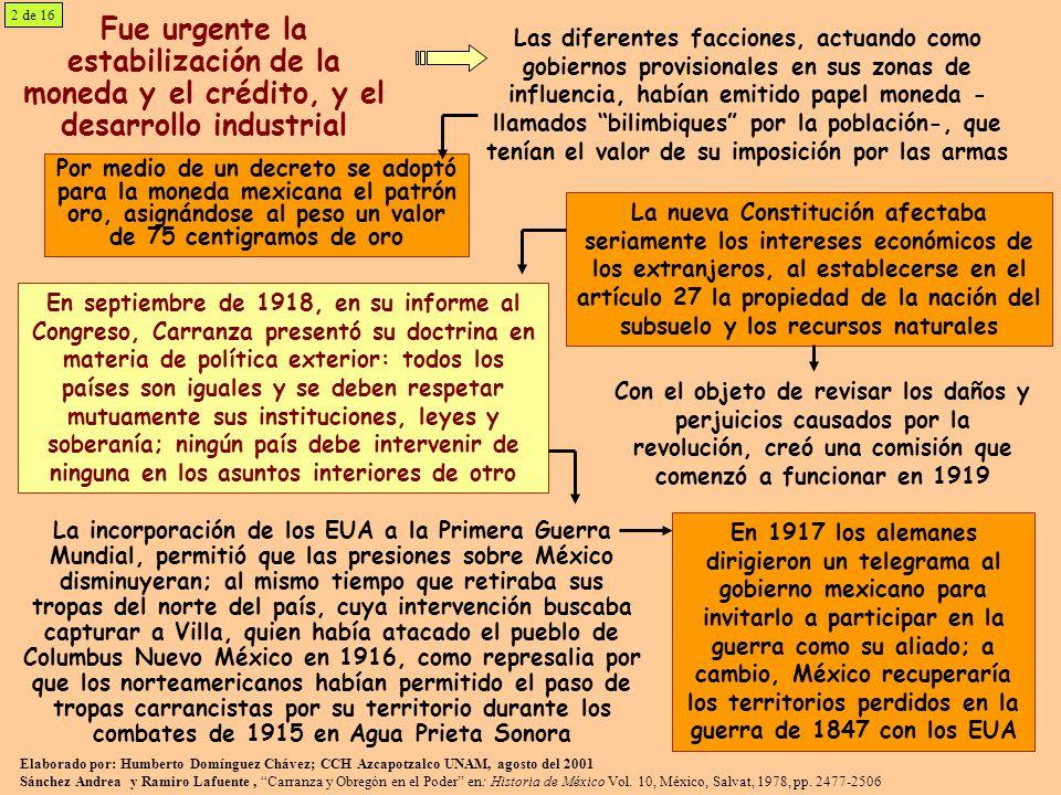 El General Plutarco Elías Calles, Presidente de México de 1924 a 1928 se distinguió por su labor político administrativa Se apoyó fundamentalmente en la CROM, nombrando a su dirigente Luis N.