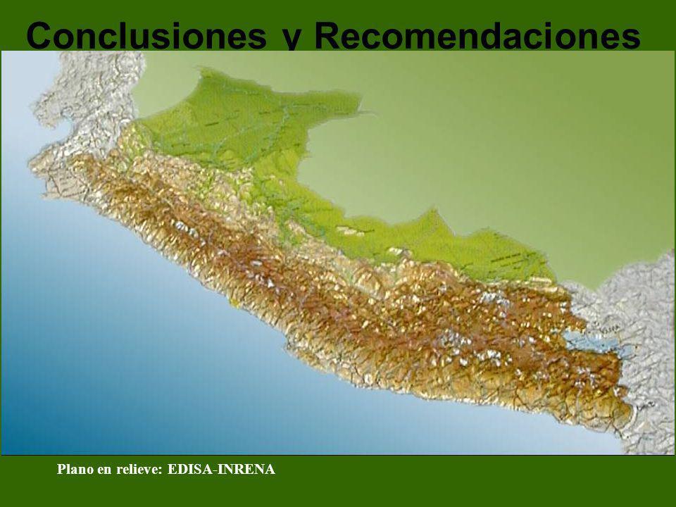 Conclusiones y Recomendaciones Plano en relieve: EDISA-INRENA