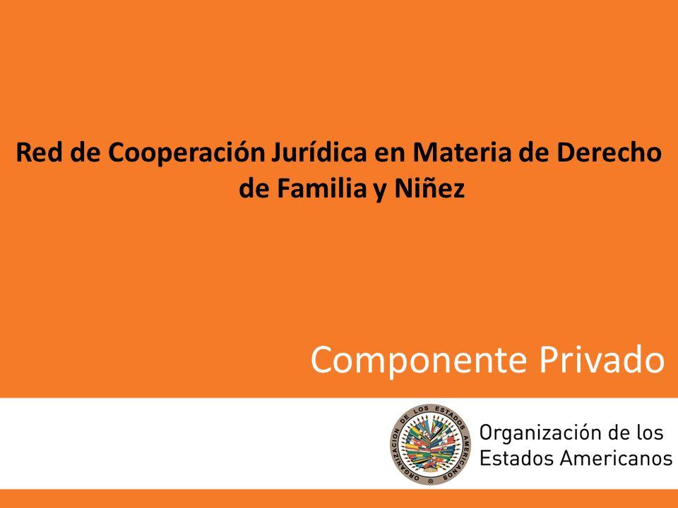 Componente Privado Red de Cooperación Jurídica en Materia de Derecho de Familia y Niñez