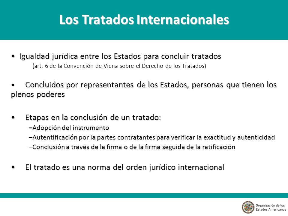 Igualdad jurídica entre los Estados para concluir tratados Igualdad jurídica entre los Estados para concluir tratados ( (art.