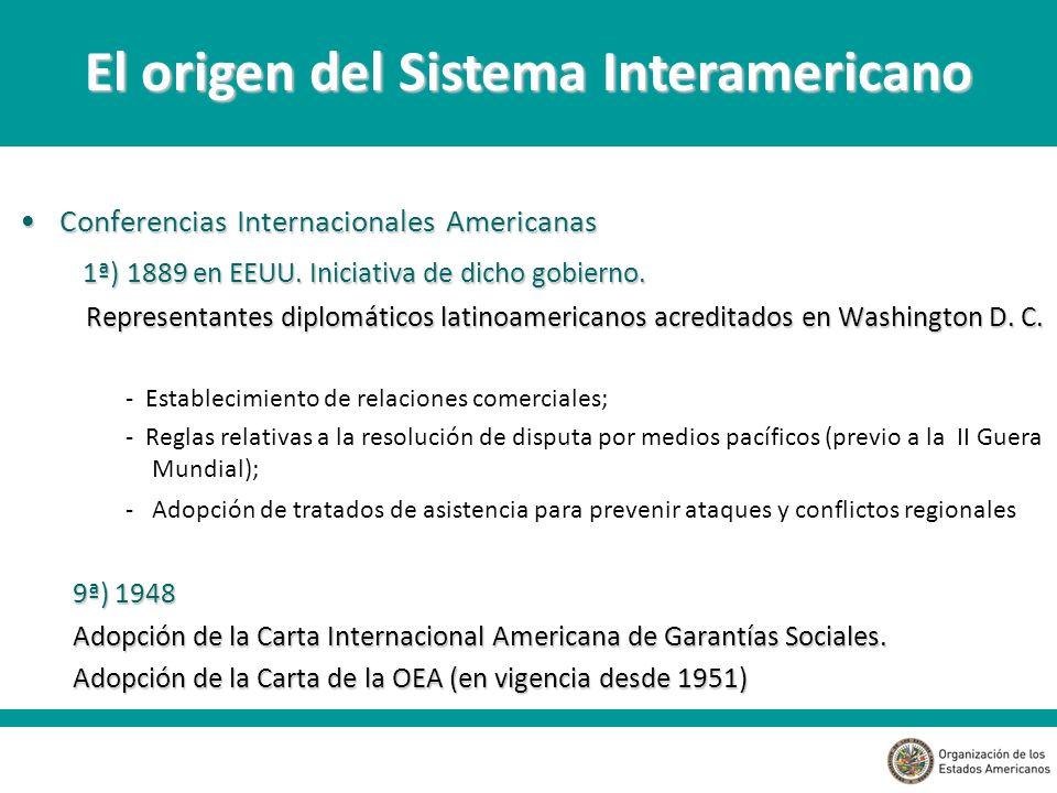 Conferencias Internacionales AmericanasConferencias Internacionales Americanas 1ª) 1889 en EEUU.