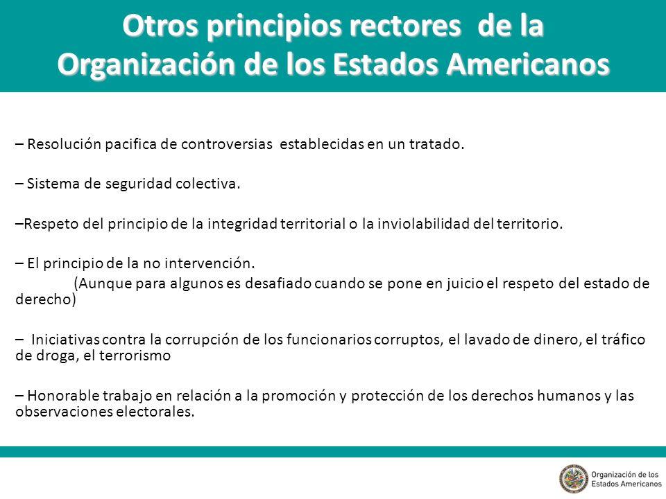 – Resolución pacifica de controversias establecidas en un tratado.
