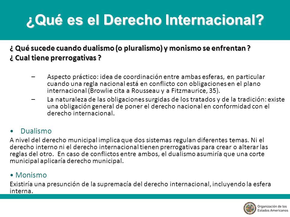 4- Derecho internacional como materia manipulable, dependiente del juego político Legitimaría los intereses de los Estados poderosos en detrimento de los pequeños (Seintefus) 5- Derecho internacional como una disciplina estática, en donde los Estados serían los únicos sujetos de derecho.
