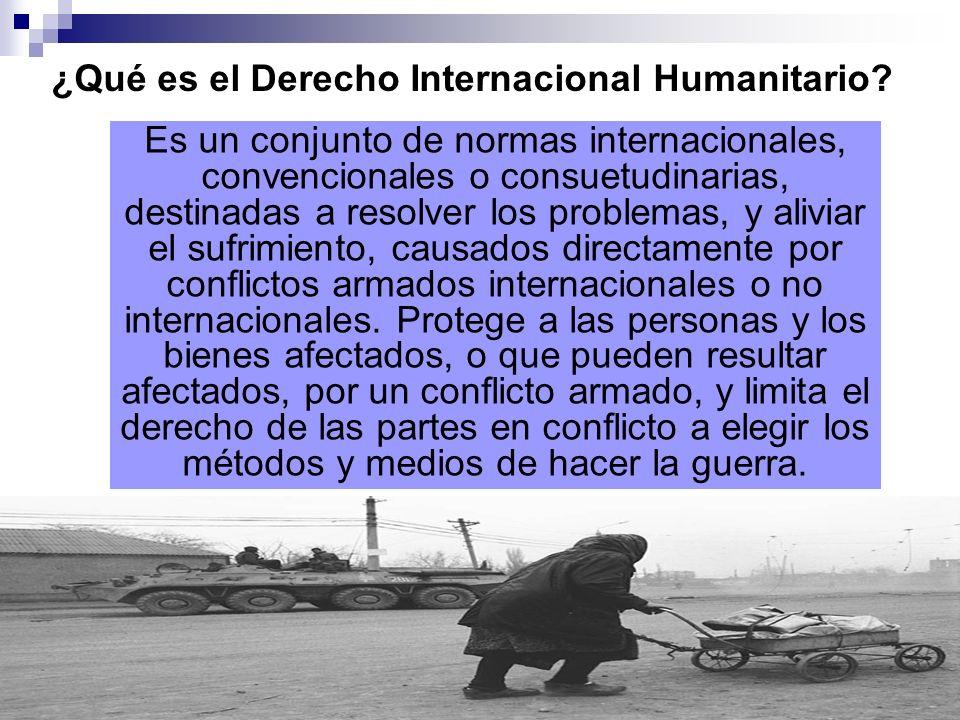 Derecho internacional público Derechos humanos Derecho internacional humanitario Conducción hostilidades Protección víctimas DIH = lex specialis Derecho internacional de los Refugiados