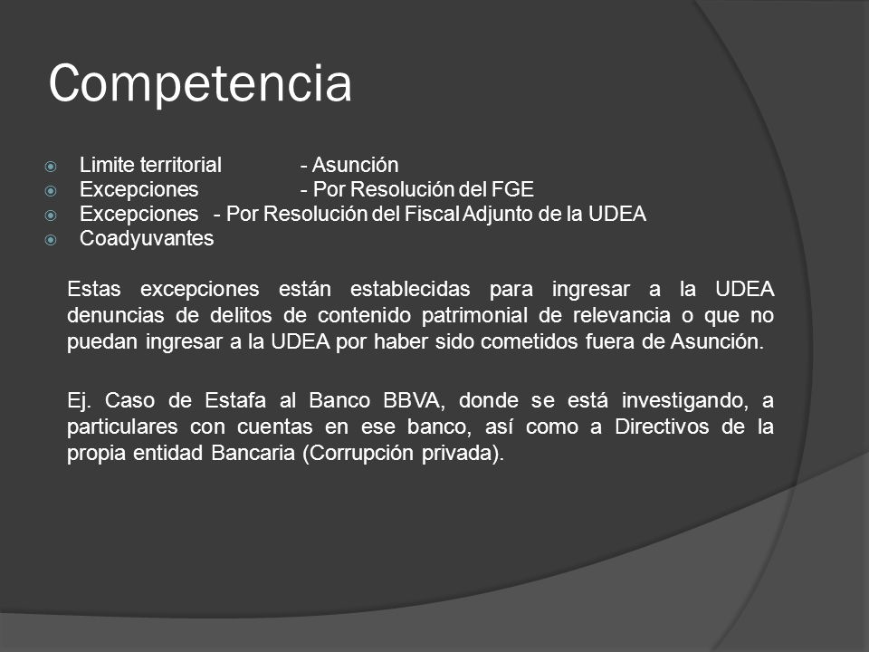Competencia Limite territorial- Asunción Excepciones- Por Resolución del FGE Excepciones - Por Resolución del Fiscal Adjunto de la UDEA Coadyuvantes E