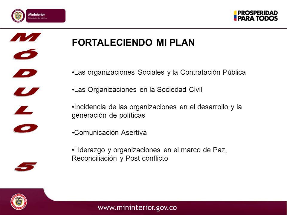 FORTALECIENDO MI PLAN Las organizaciones Sociales y la Contratación Pública Las Organizaciones en la Sociedad Civil Incidencia de las organizaciones e