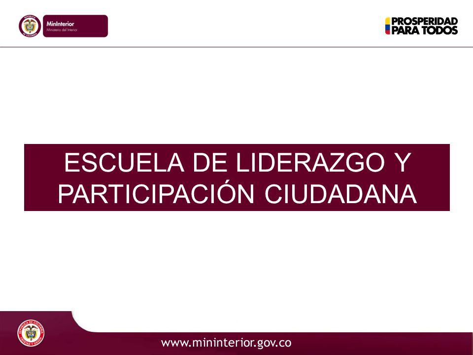 Código ESCUELA DE LIDERAZGO Y PARTICIPACIÓN CIUDADANA