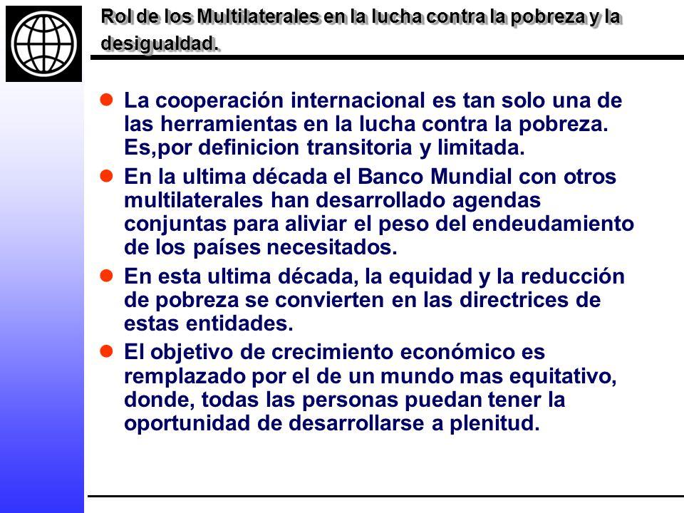 Rol de los Multilaterales en la lucha contra la pobreza y la desigualdad.
