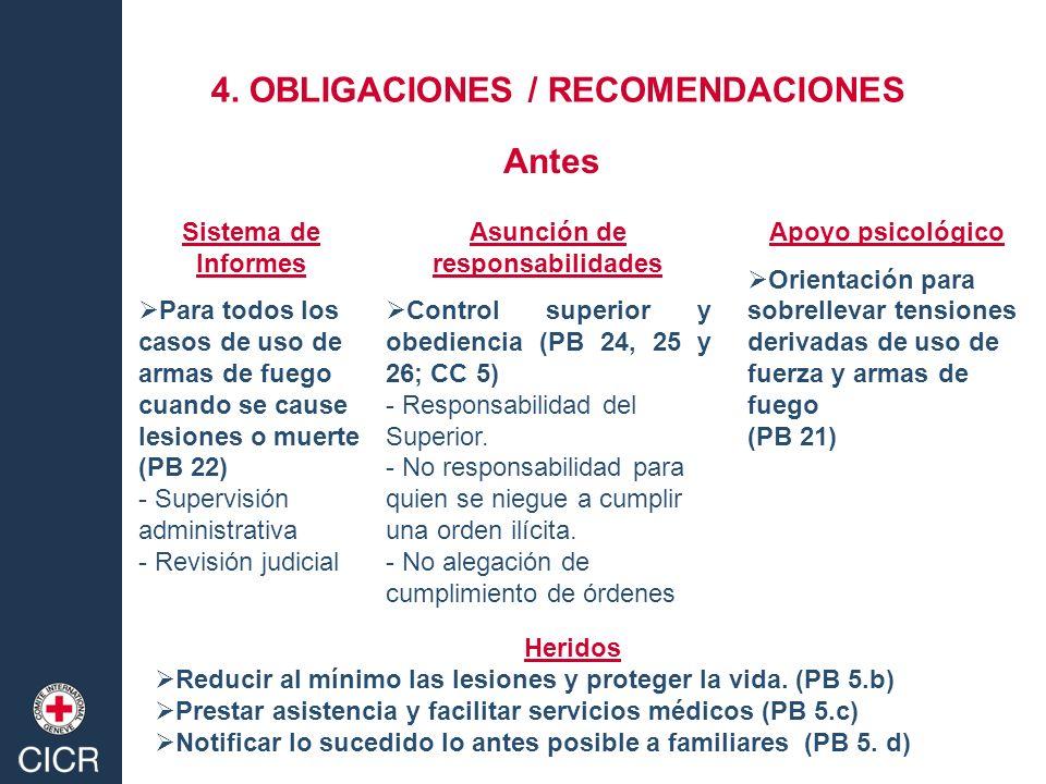 Sistema de Informes Para todos los casos de uso de armas de fuego cuando se cause lesiones o muerte (PB 22) - Supervisión administrativa - Revisión ju
