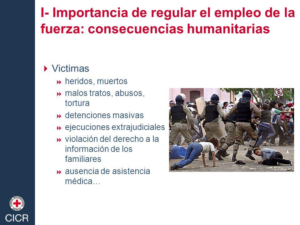 Victimas heridos, muertos malos tratos, abusos, tortura detenciones masivas ejecuciones extrajudiciales violación del derecho a la información de los