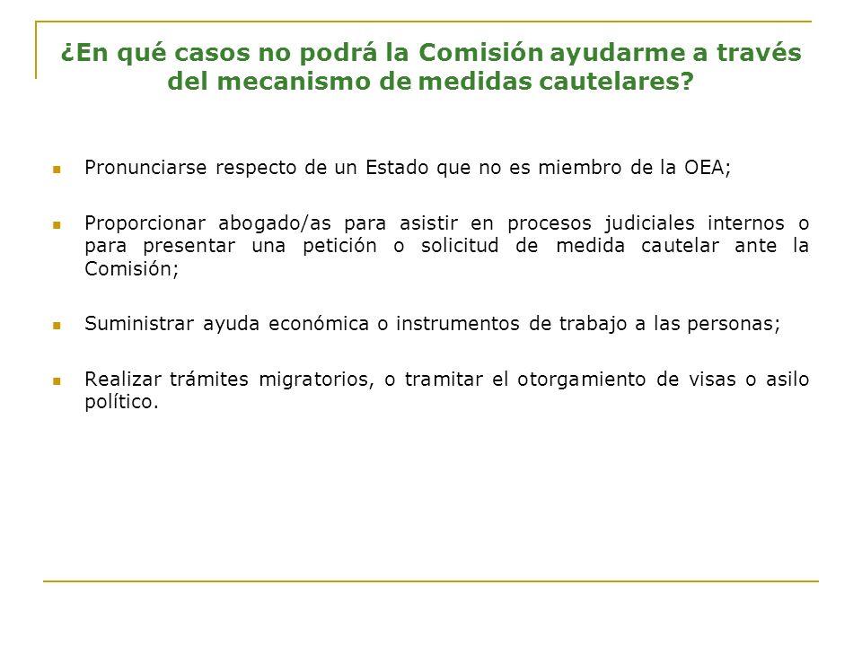 Reserva de identidad en medidas cautelares ¿Puede la Comisión mantener la reserva de la identidad de la persona que se propone como beneficiaria.