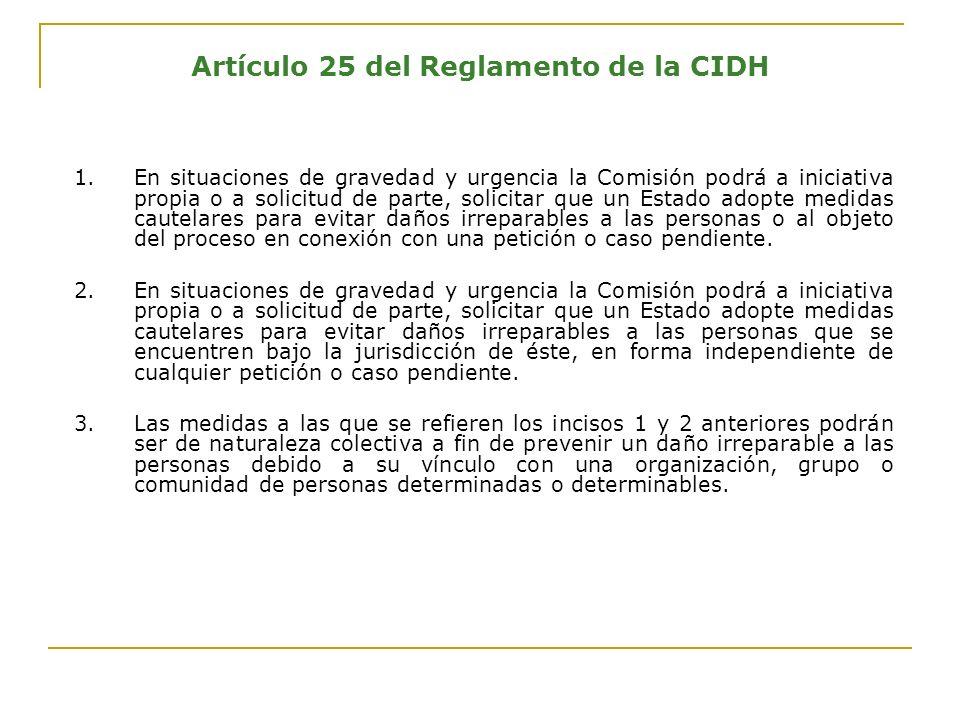 ¿Qué tipos de medidas cautelares ha otorgado la CIDH para pueblos indígenas y sus miembros.