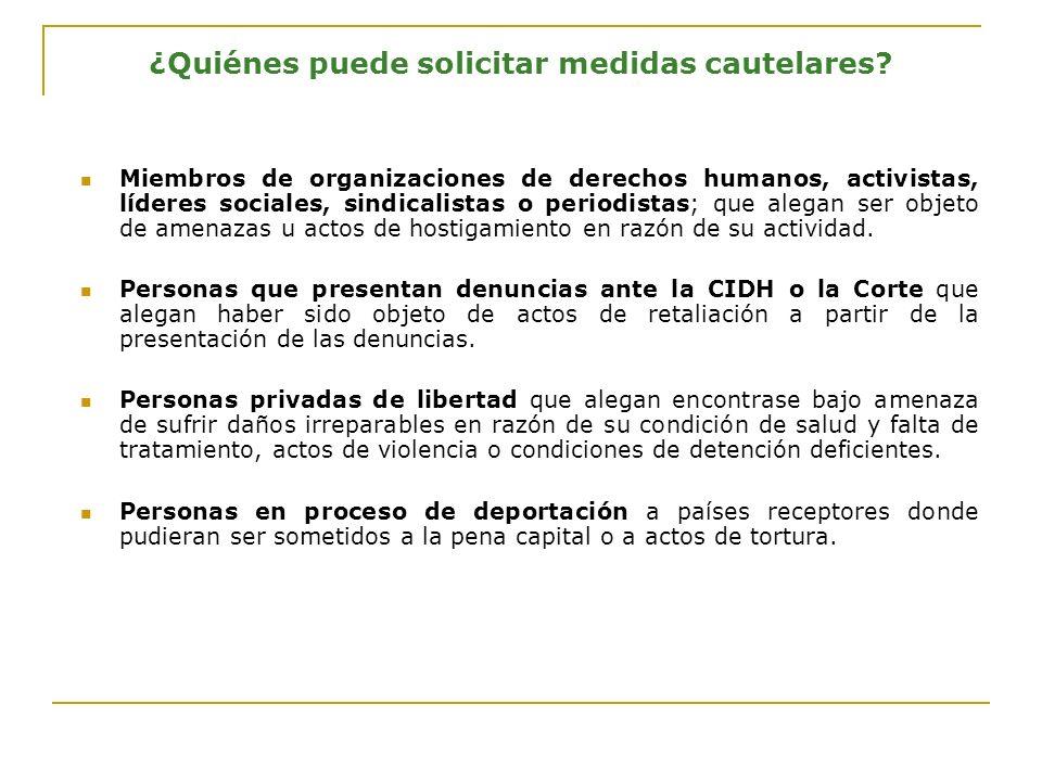 Trámite de solicitudes de medidas cautelares Recepción y registro de la solicitud Elaboración de memorando sobre contenido de la solicitud y revisión en el seno de los grupos de trabajo de la Secretaría Ejecutiva (Grupos regionales, relatorías, SE/SEA)