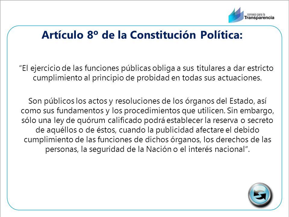 El ejercicio de las funciones públicas obliga a sus titulares a dar estricto cumplimiento al principio de probidad en todas sus actuaciones.
