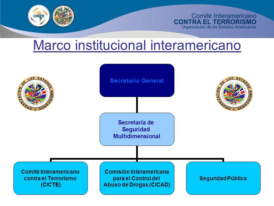9 Marco institucional interamericano Realización de dos sesiones extraordinarias el 15 de octubre de 2001 y el 29 de noviembre de 2001. Segunda Sesión