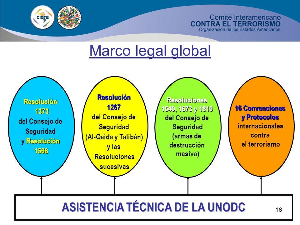 15 Marco legal global LA ESTRATEGIA MUNDIAL DE LAS NACIONES UNIDAS CONTRA EL TERRORISMO ADOPTADA POR LA ASAMBLEA GENERAL EL 8 DE SEPTIEMBRE DE 2006 Pl