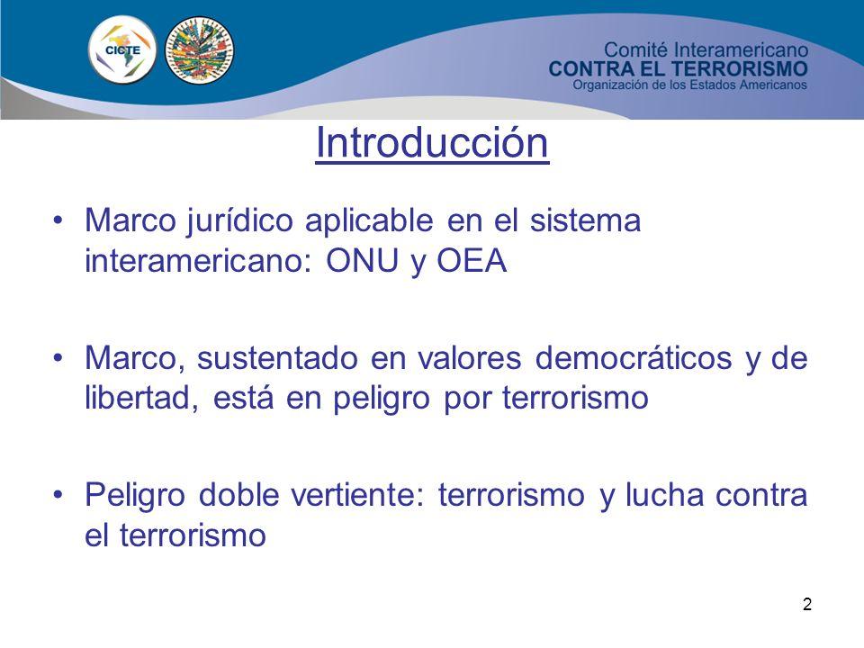 1 XXXV Curso de Derecho Internacional XXXV Curso de Derecho Internacional El marco legal internacional contra el terrorismo. Instrumentos universales