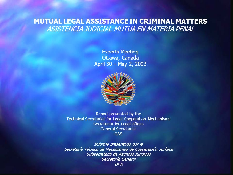 CONTENT OF REPORT: CONTENIDO DEL INFORME: State of signatures and ratifications of principal Inter-American Conventions that contain provisions regarding Mutual Legal Assistance in Criminal Matters State of signatures and ratifications of principal Inter-American Conventions that contain provisions regarding Mutual Legal Assistance in Criminal Matters Estado de firmas y ratificaciones de las principales Convenciones Interamericanas que contienen disposiciones sobre la Asistencia Judicial Mutua en Materia Penal Analysis of responses to questionnaire on Mutual Legal Assistance in Criminal Matters Analysis of responses to questionnaire on Mutual Legal Assistance in Criminal Matters Análisis de las respuestas al cuestionario sobre Asistencia Judicial Mutua en Materia Penal Brief summary of survey results for REMJA IV Brief summary of survey results for REMJA IV Resumen de resultados de la encuesta para la REMJA IV Preliminary considerations Preliminary considerations Consideraciones preliminares