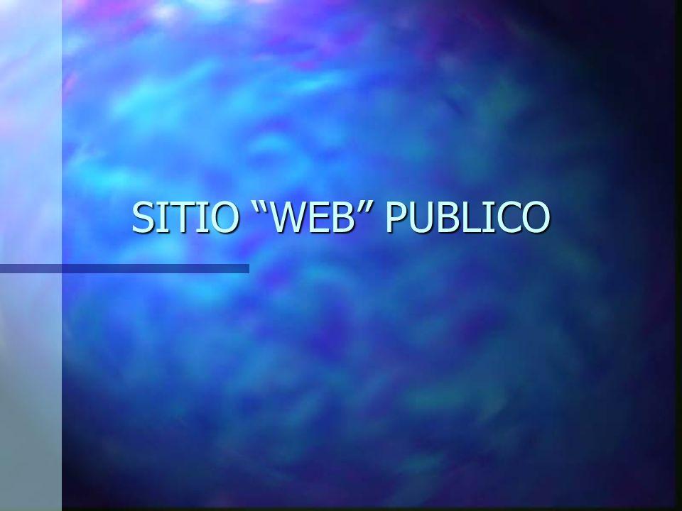 SITIO WEB PUBLICO